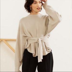 Modern Citizen Nara sweater tie front XS/S